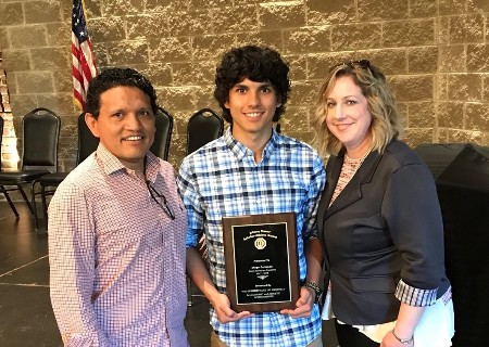 GCA senior, Diego Carrasco, wins award!