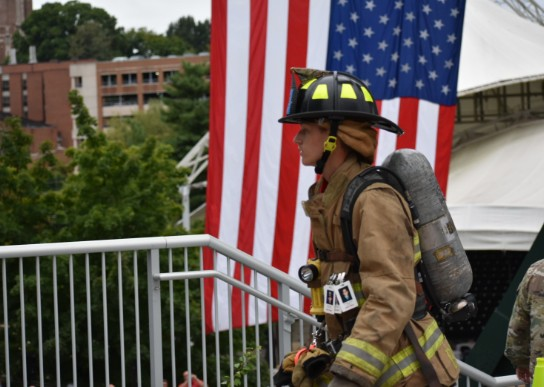 GCA student, Logan Bagwell, participates in Remembrance Climb