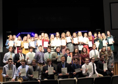 GCA students inducted to National Honor Societies