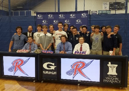 GCA Baseball Players sign with Roane State Community College